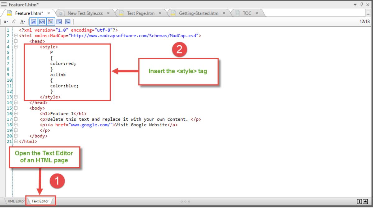 Internal CSS using MadCap Flare