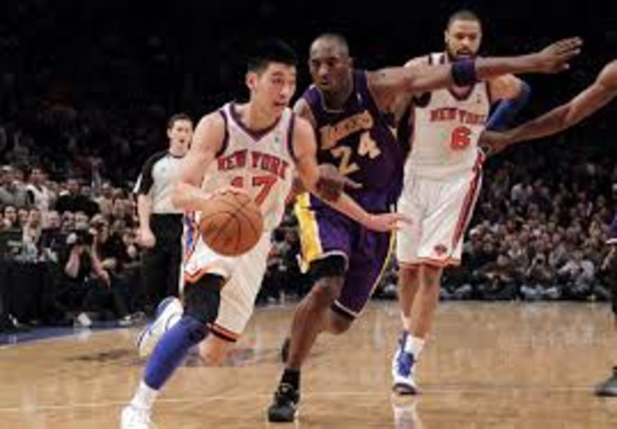 On February 10, 2012 Jeremy Lin dropped 38 points as the Knicks beat Kobe's Lakers 92-85.