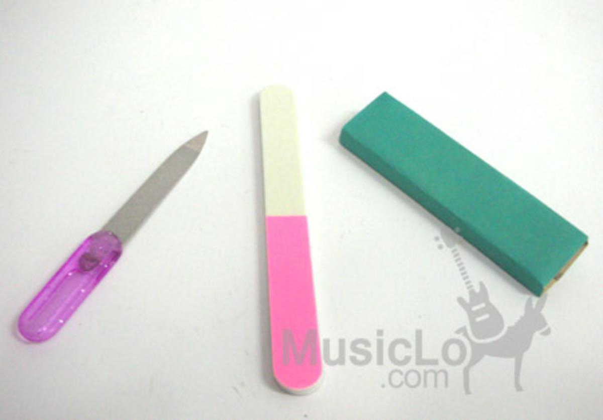 A nail file kit like this is perfect as it has rough paper to start and smooth to finish the nails off.