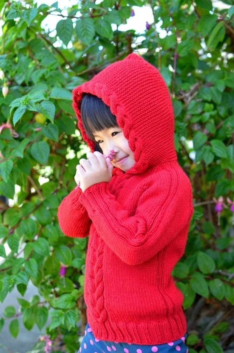 Kid Cable Pullover - Free Knitting Pattern