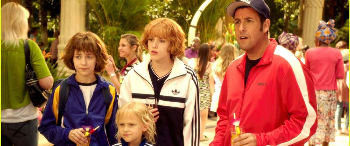 Jim (played by Adam Sandler) and his kids in Blended the movie