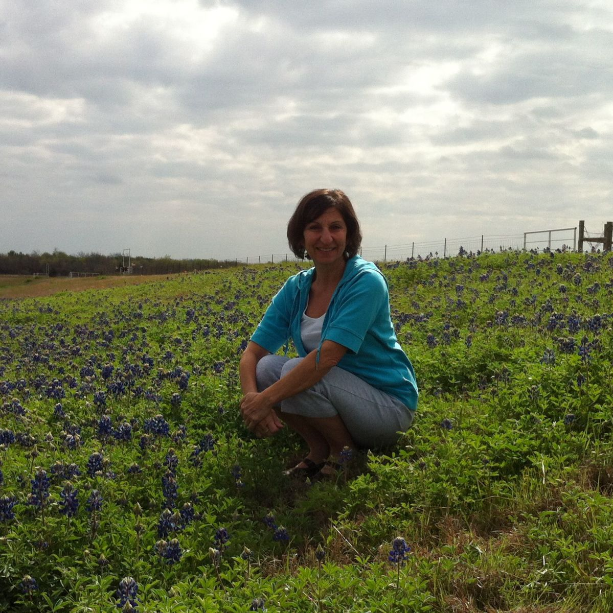 Me in a field of bluebonnets along highway 287 south almost to Corsicana