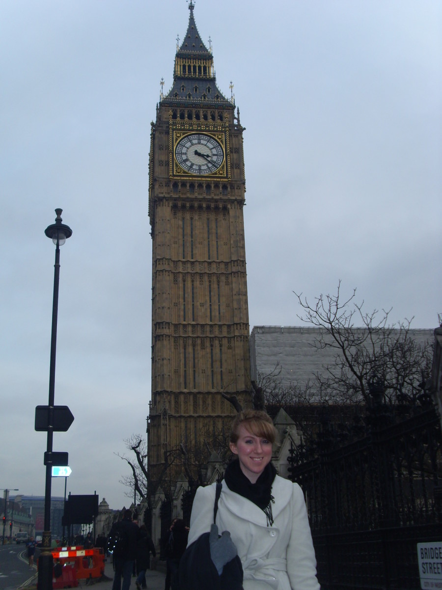 BIG BEN (on my second visit there with my Mother)