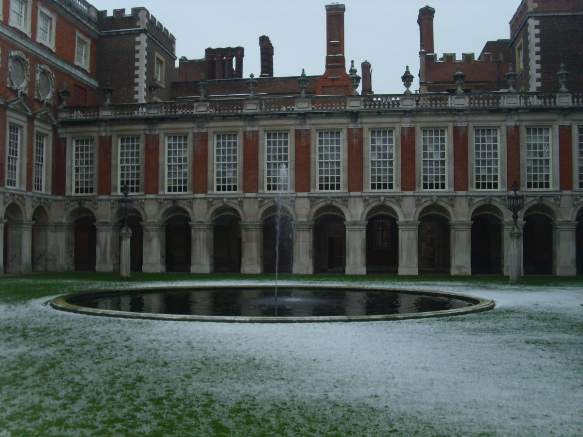 A view of Hampton Court Palace