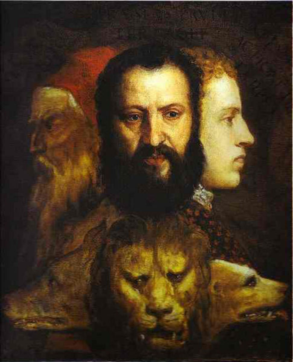 An Allegory of Prudence  Titian and workshop