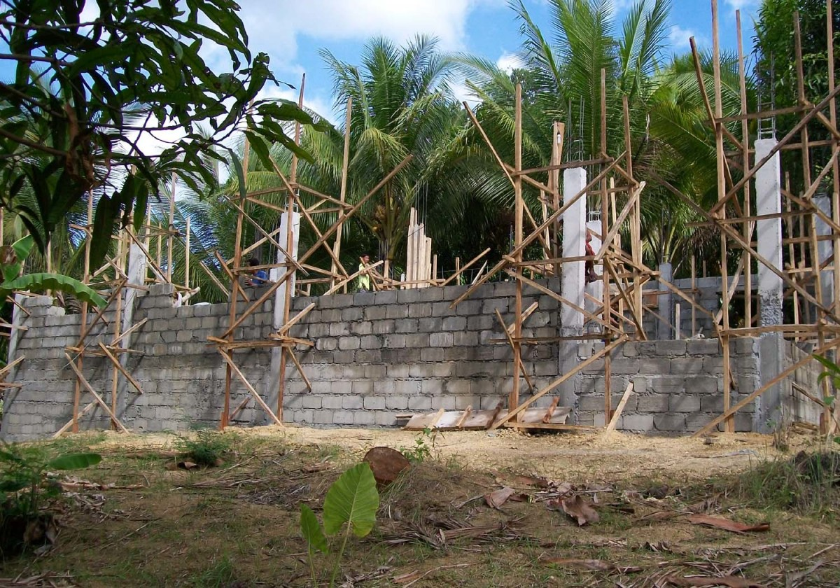 The walls go up on the house I built five years ago.