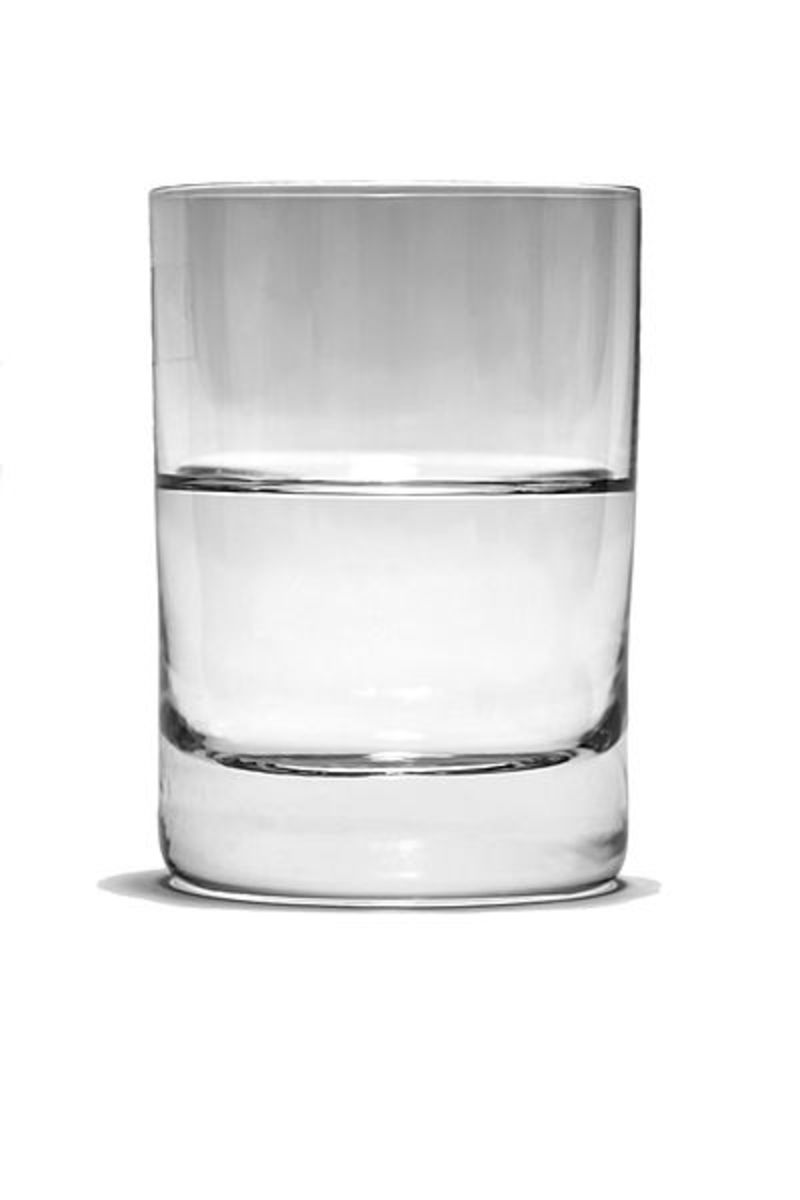 Is it half full, half empty or simply a glass with some water in it?