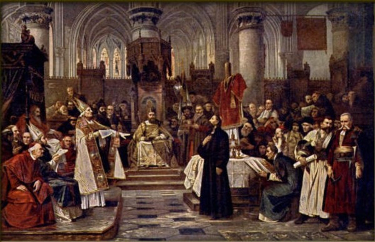 JAN HUS AT COUNCIL OF CONSTANCE (PAINTING BY VACLAV BROZIK)