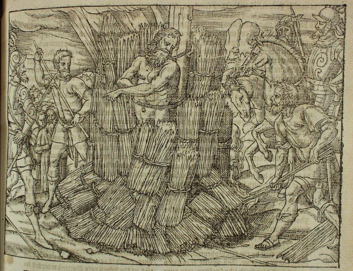 JEROME OF PRAGUE BURNED AT THE STAKE (ILLUSTRATION FROM FOXES BOOK OF MARTYRS)