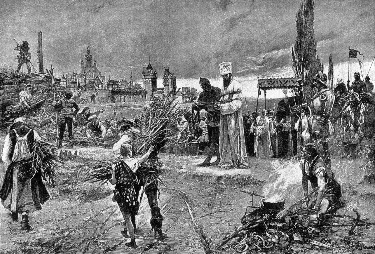 BURNING OF JAN HUS AT COUNCIL OF CONSTANCE