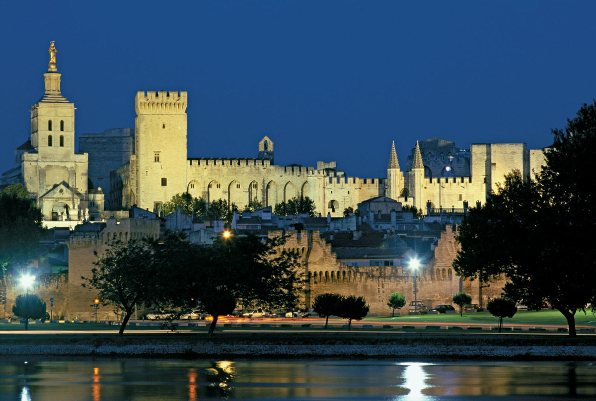 PAPAL PALACE AT AVIGNON