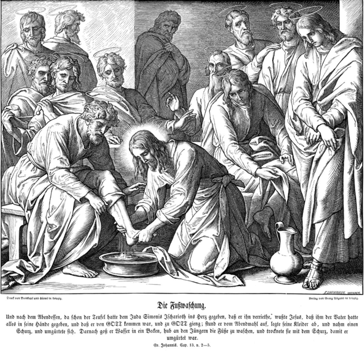 JESUS WASHING FEET OF DISCIPLES