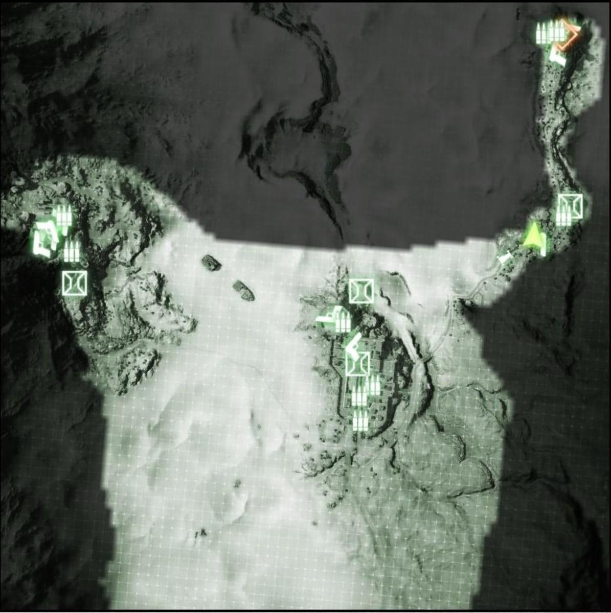 Map: Sangre Del Toro M-COM / Satellite Uplink 03.