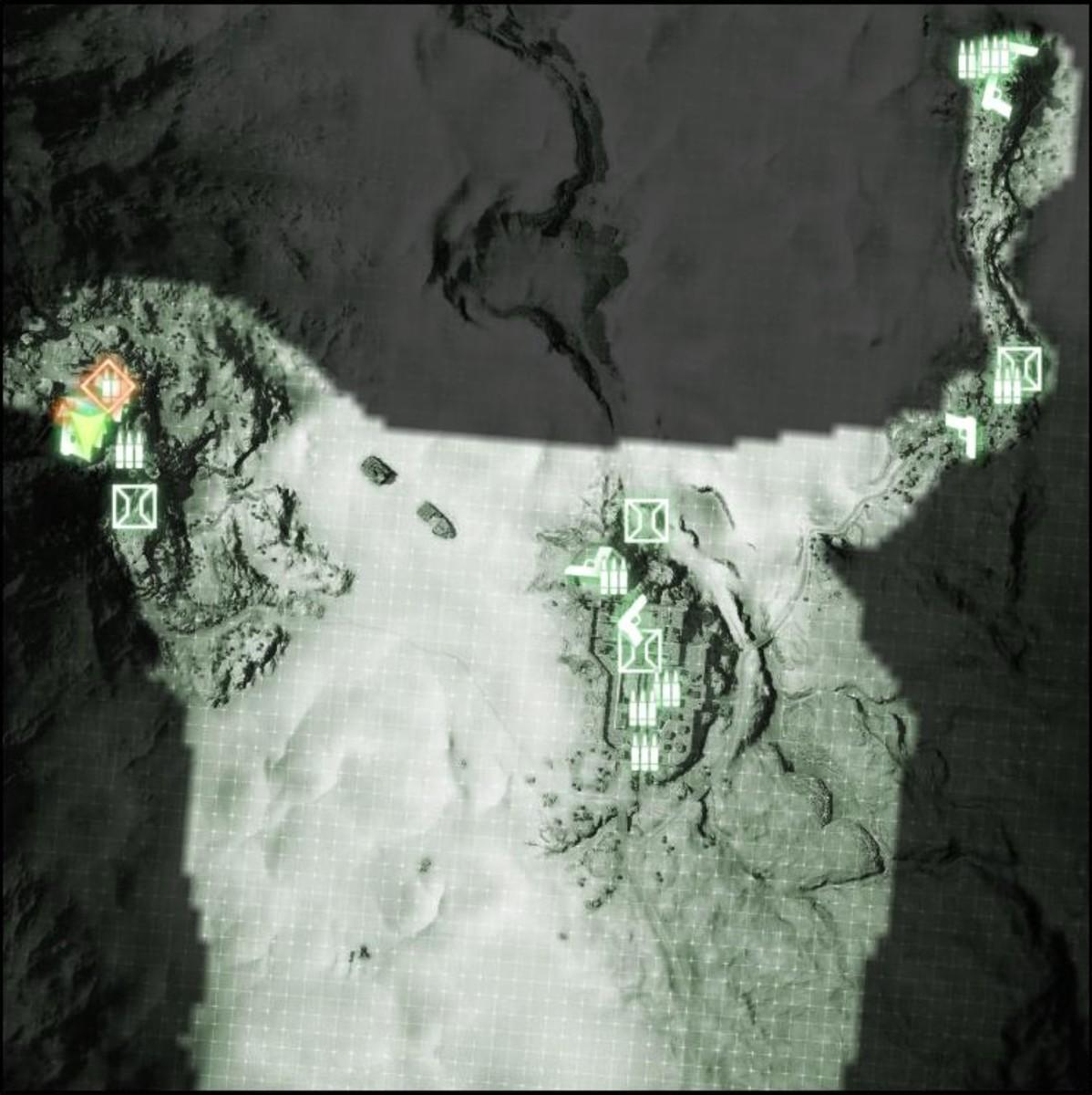 Map: Sangre Del Toro M-COM / Satellite Uplink 01.