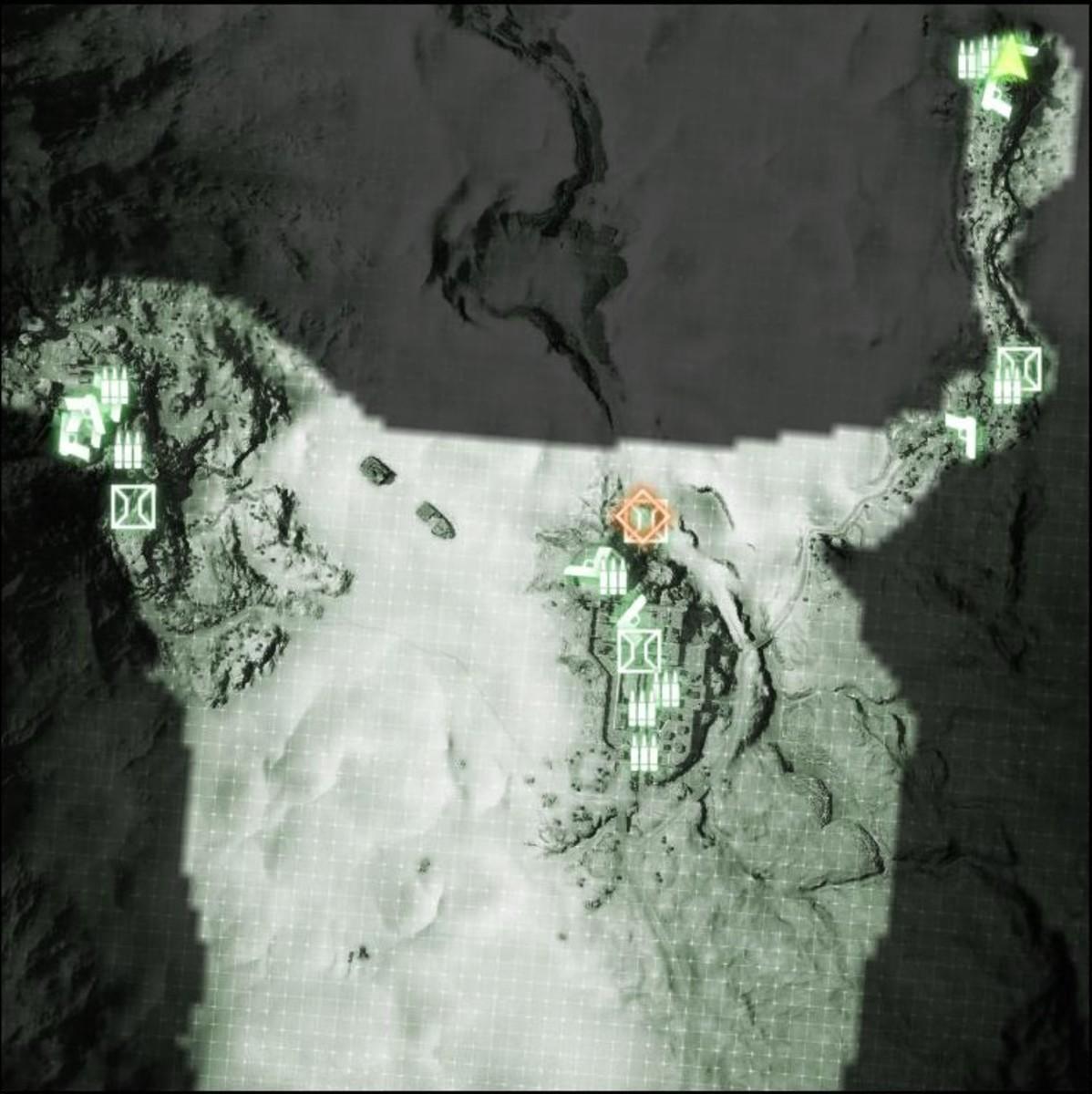 Map: Sangre Del Toro M-COM / Satellite Uplink 04.