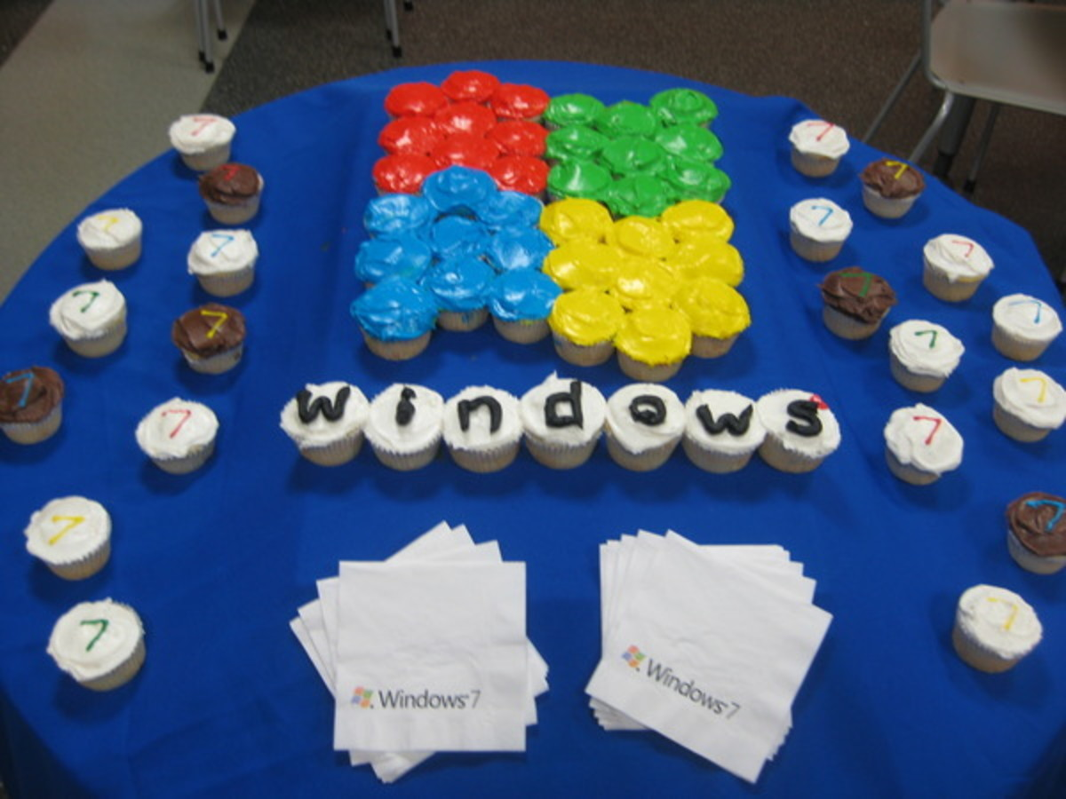 Windows 7 Cupcakes