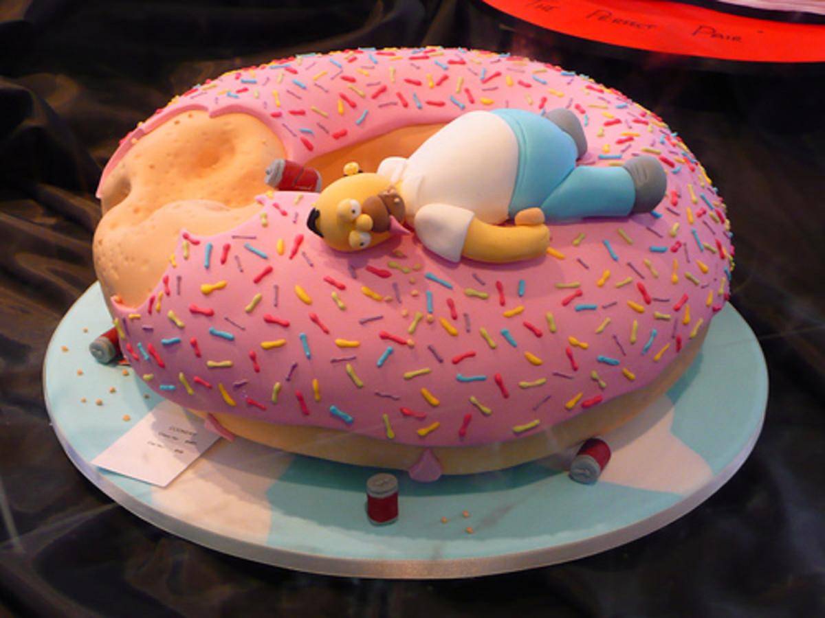 Creating Your Homer Donut Cake
