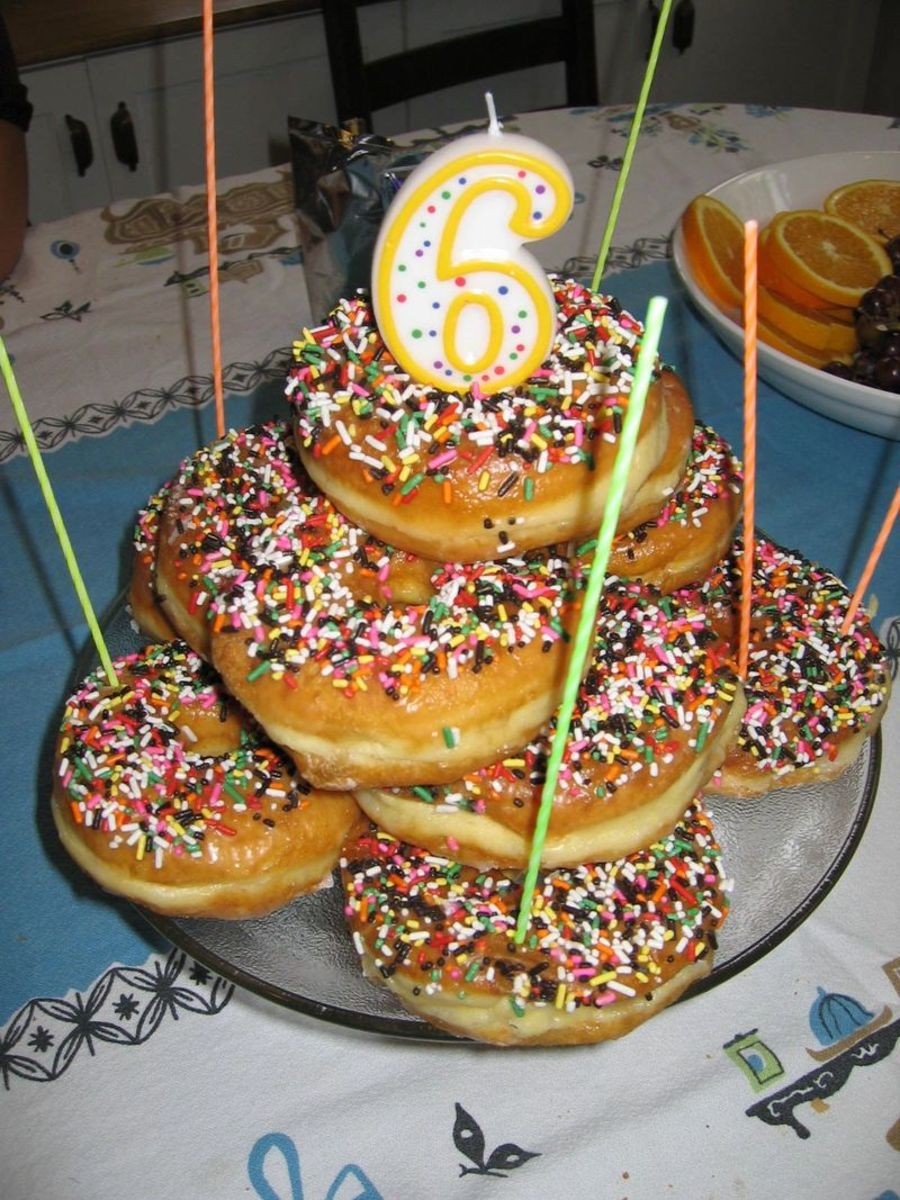 Fantastic Donut Birthday Cake Ideas Hubpages Funny Birthday Cards Online Elaedamsfinfo
