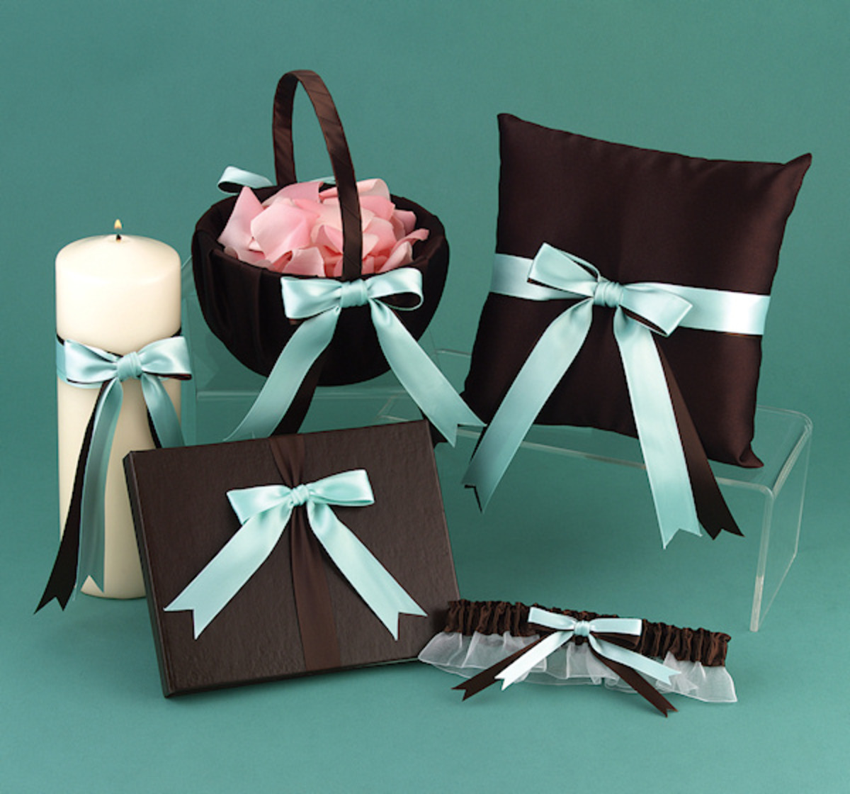 Brown & Aqua Darling Duo Collection from Wedding Favors Unlimited