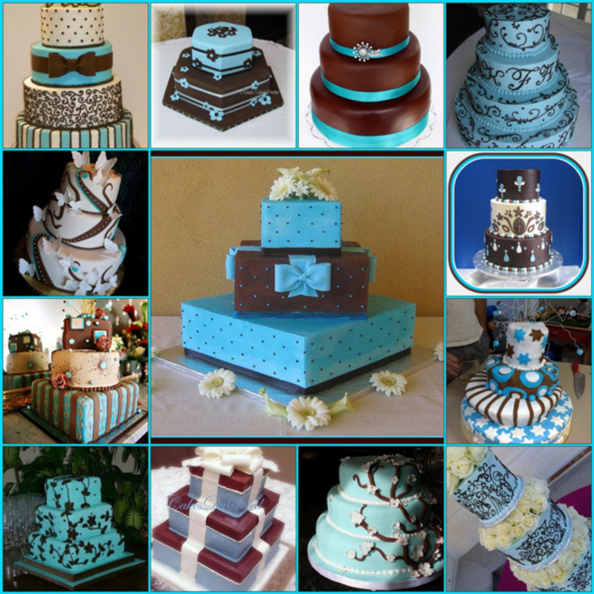 teal blue and brown wedding cakes chocolate brown amp blue wedding ideas hubpages 20775