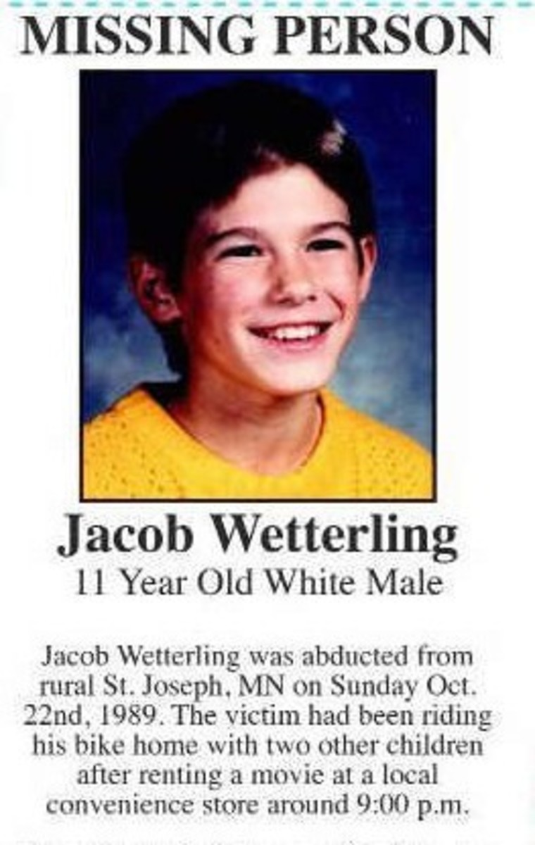 Jacob Wetterling, an eleven year old boy abducted at gun point in 1993 and never seen again.