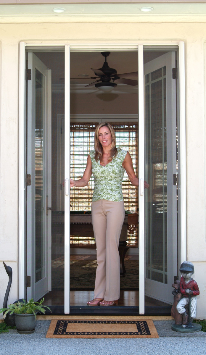 Retractable screen door reviews for Home depot screens for french doors