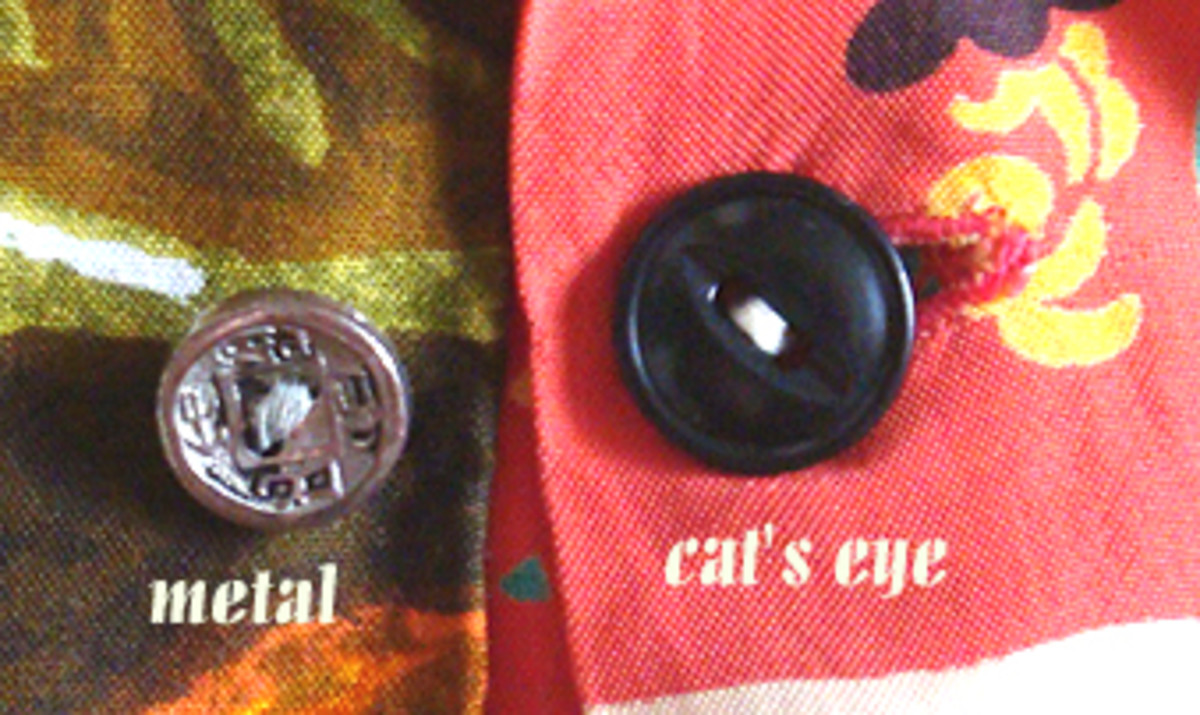 Here are two types of vintage buttons (there are other types of vintage buttons, as well).