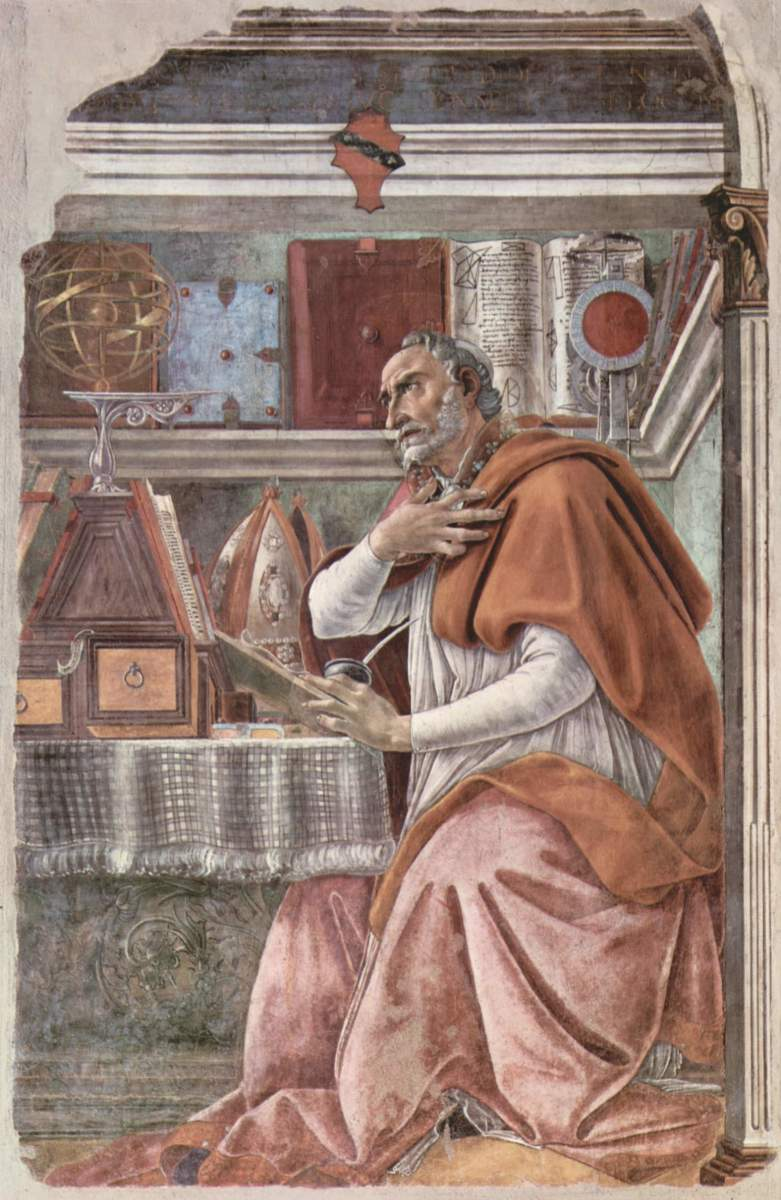 ST AUGUSTINE AS PAINTED BY BOTTICELLI