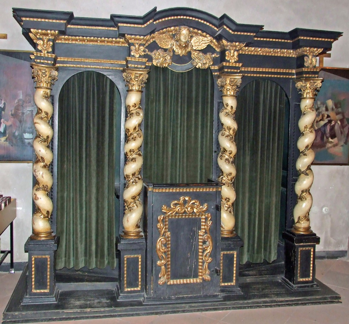 ROMAN CATHOLIC CONFESSIONAL IN FRANKFORT GERMANY