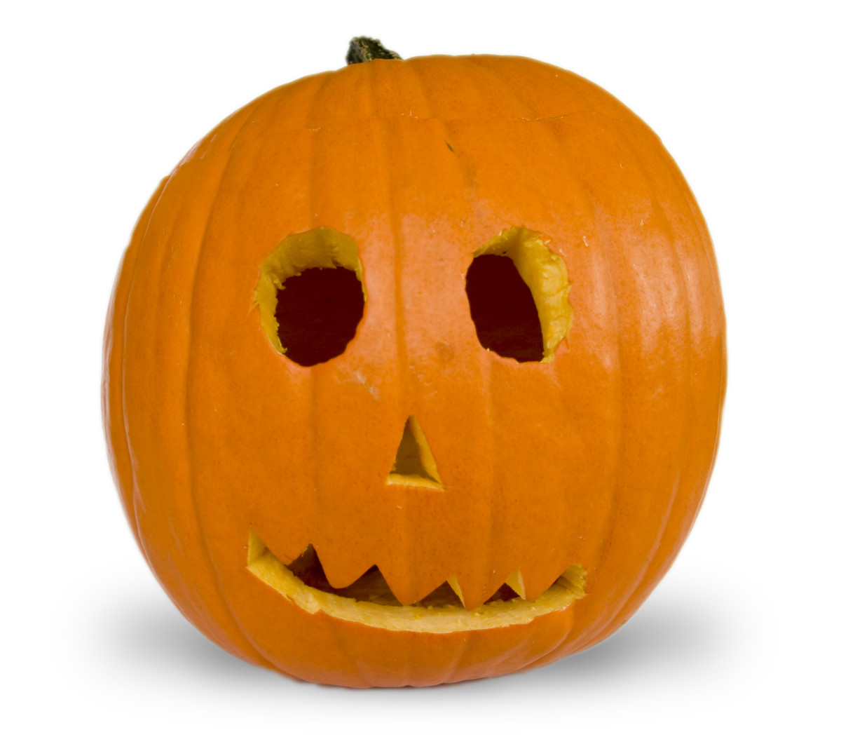 Collaborate with your little one by letting them trace shapes on a pumpkin that you can cut out for them.