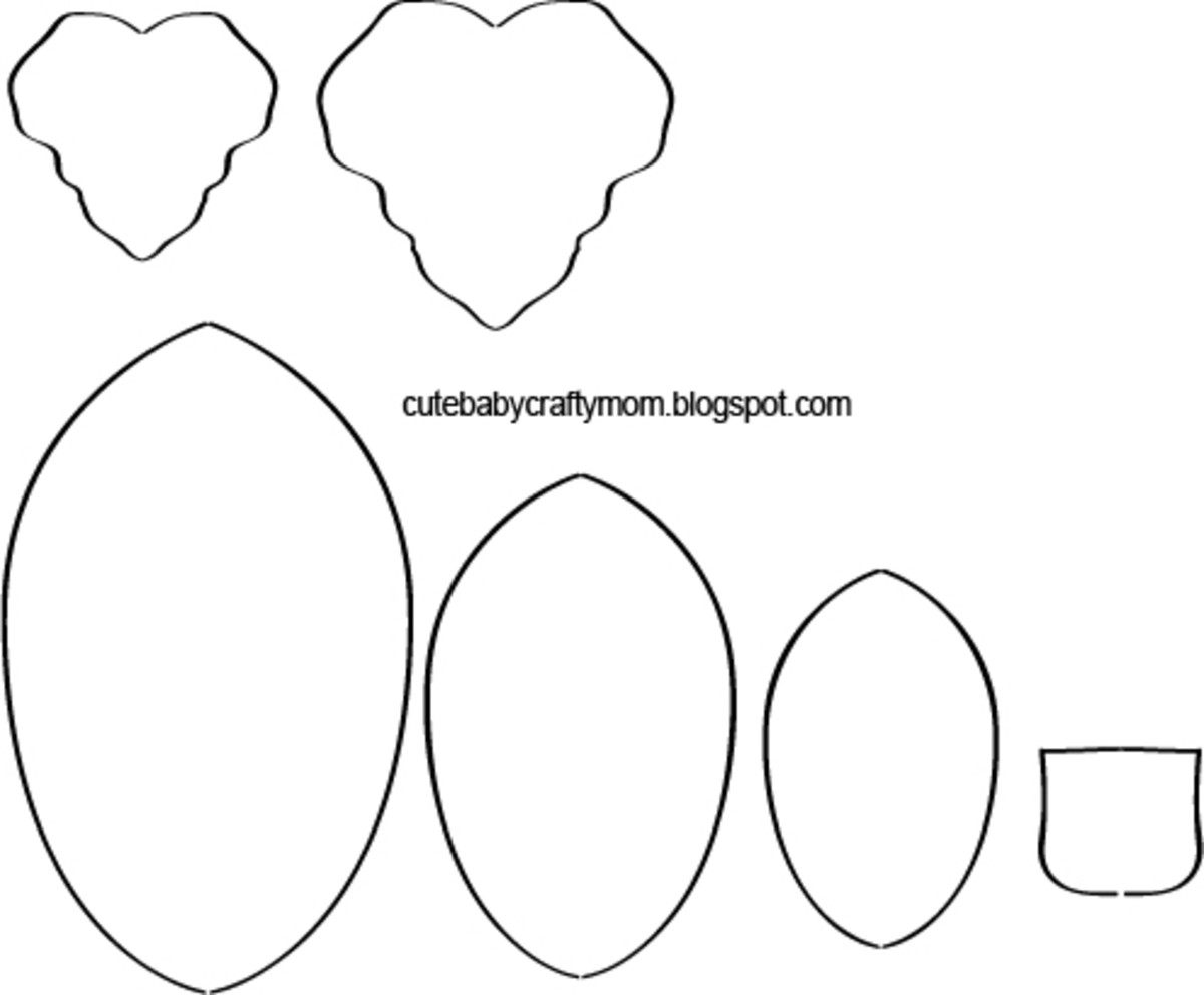 Printable Paper Pumpkin Leaves and Pieces