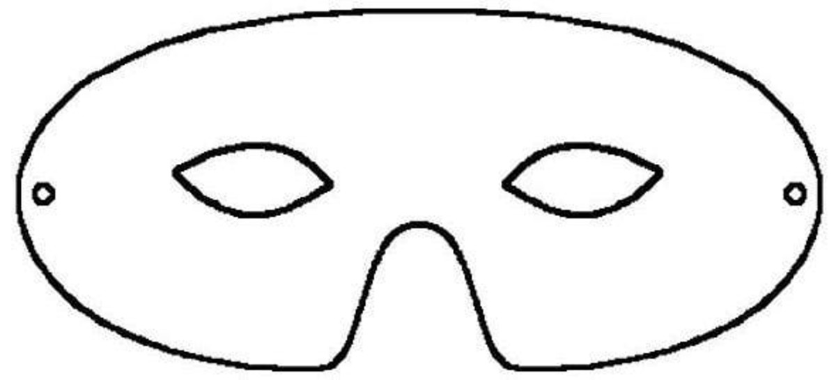Half Face Printable Mask Template