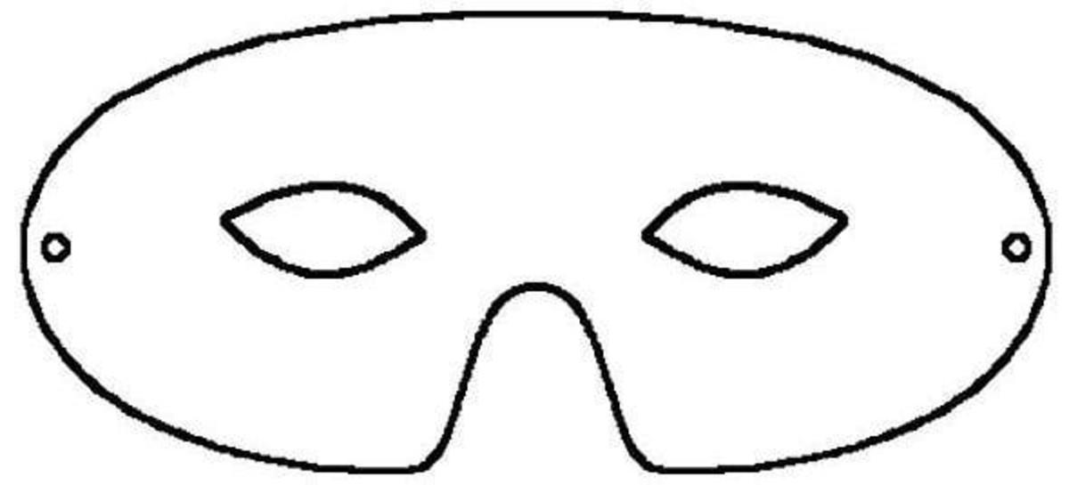Half Face Printable Mask Template