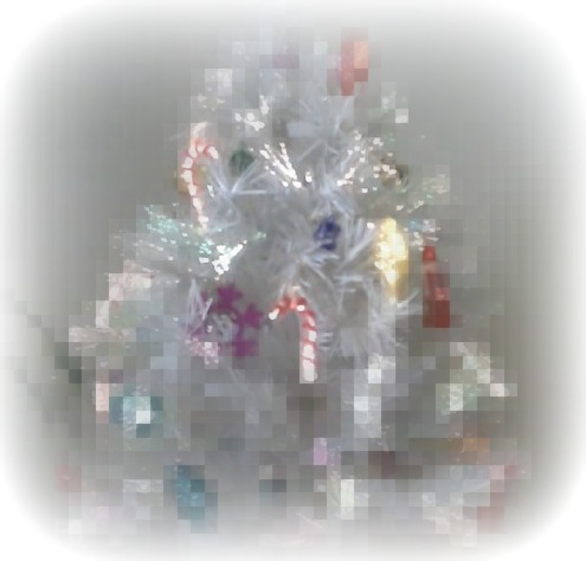 Christmas tree with pixelation effect