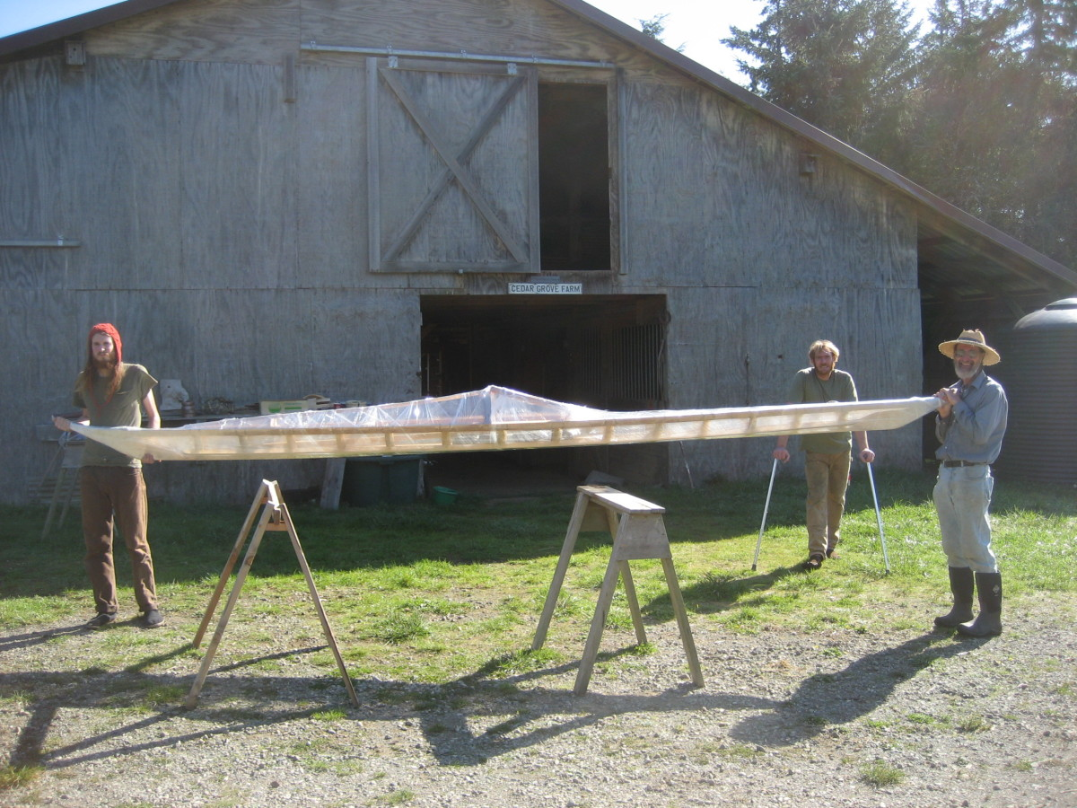 Greenland kayak ready to pre-test