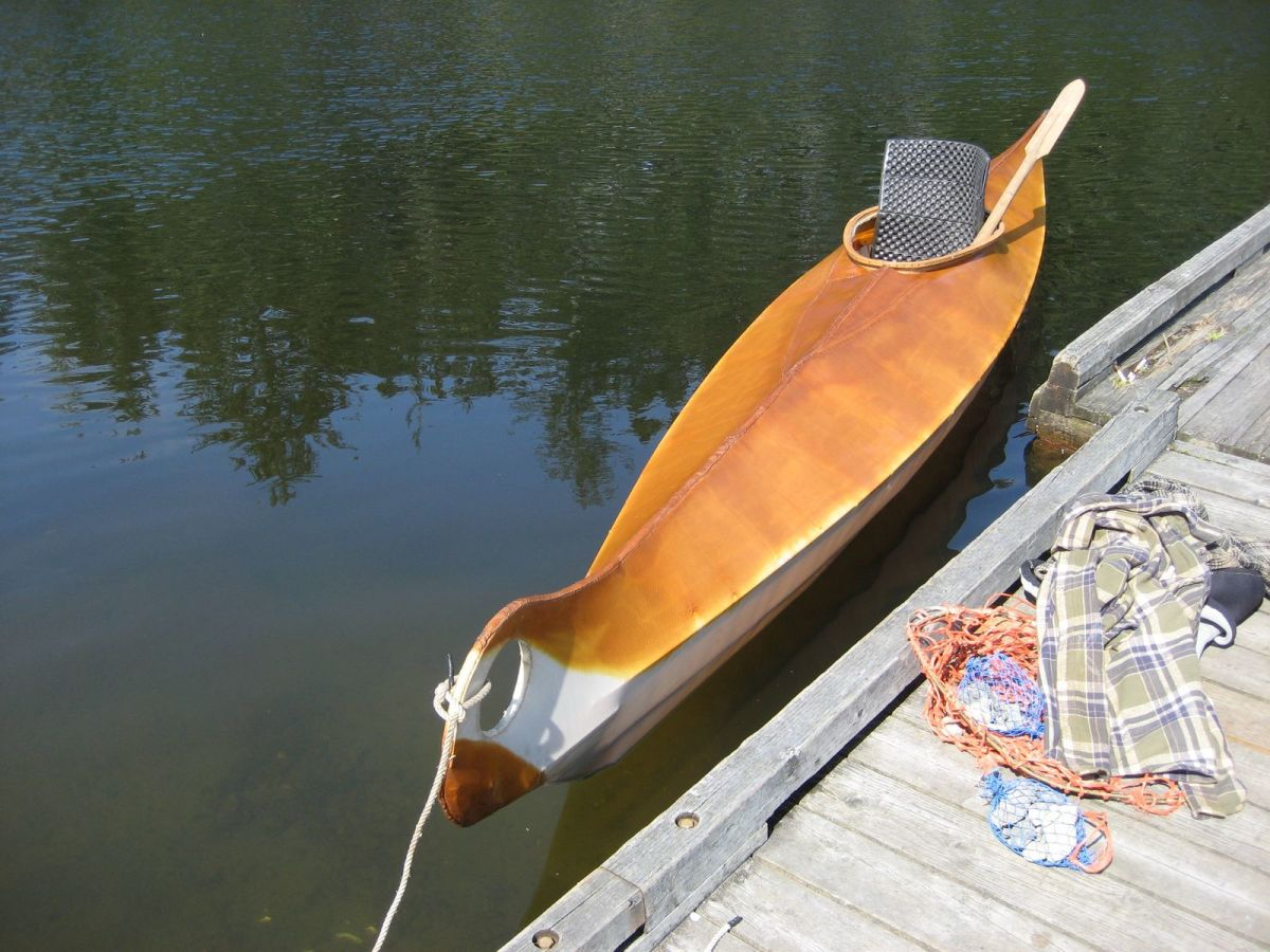 That Floating Feeling: the Hooper Bay kayak sits symmetrically in the water.
