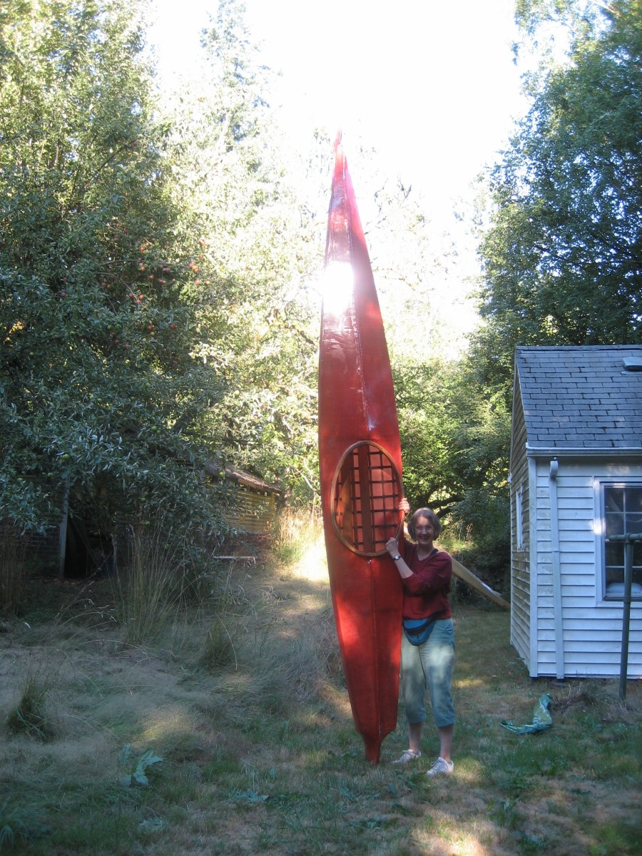 A new kayak builder and her boat