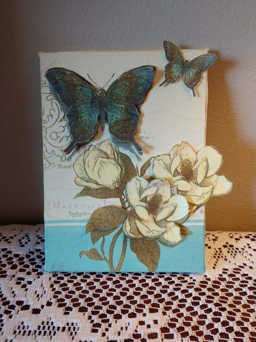 An Illustrated Tutorial for Napkin Decoupage