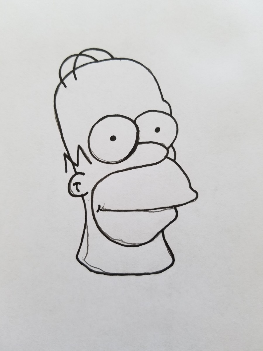 Basic Inked Bootleg Homer SImpson that can still be tweaked and made into a proper funny bootleg to share with friends, and family.