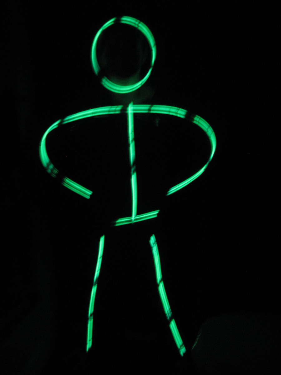 A Glow-in-the-Dark Stickman Dance is just one funny idea for a talent show act.