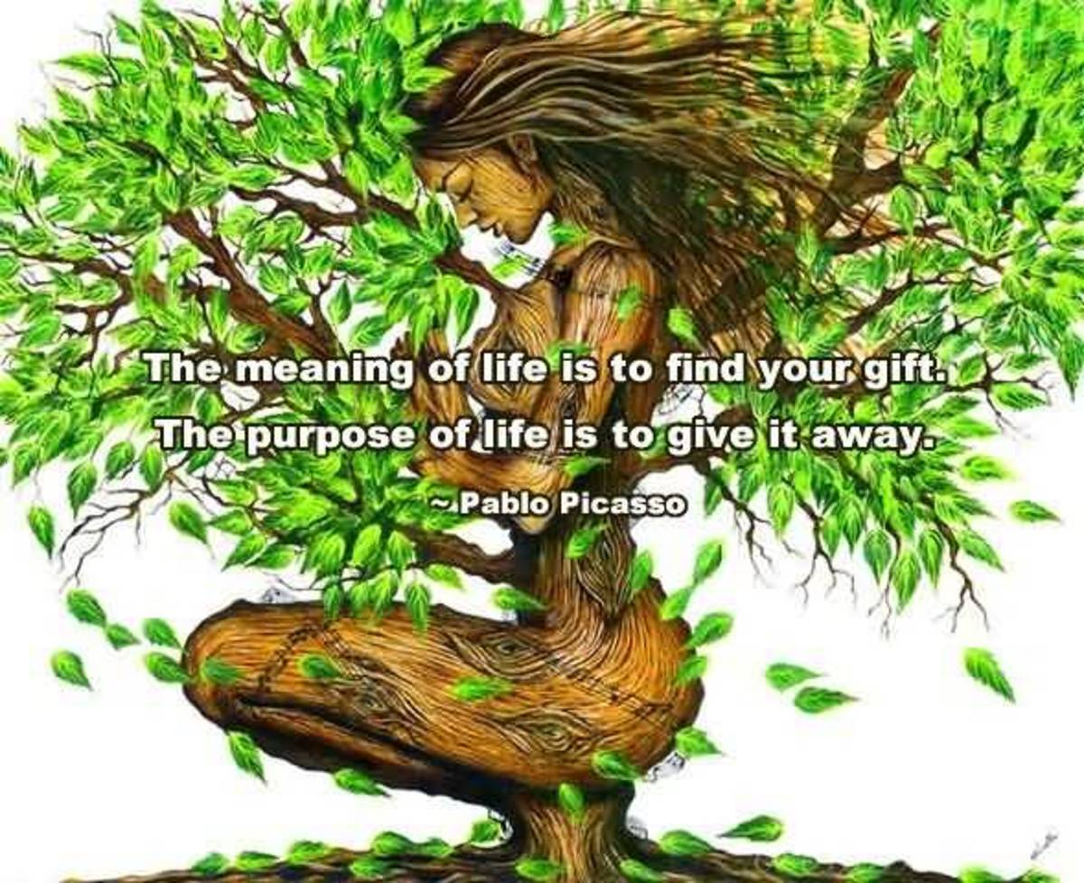 The meaning of life is to find your gift. The purpose of life is to give it away. --Pablo Picasso