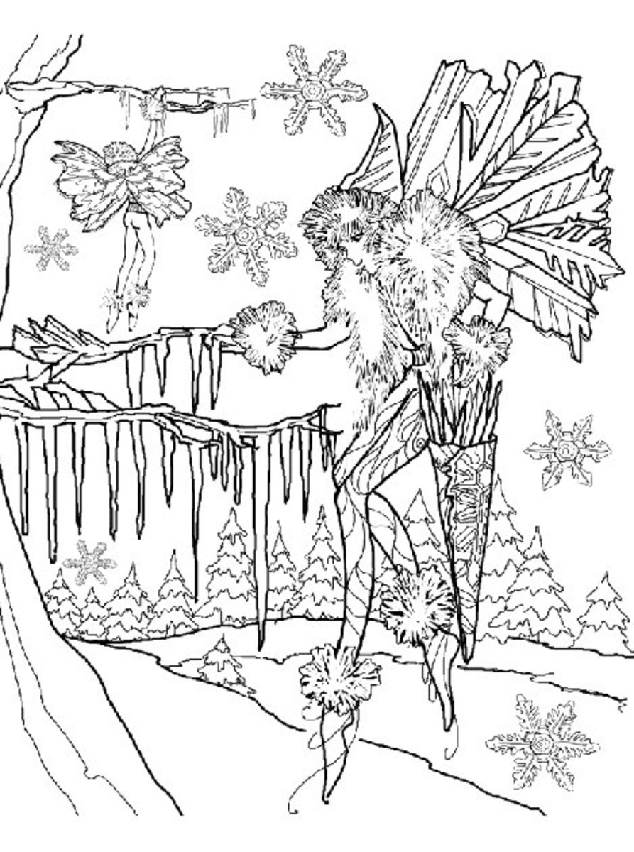 Fairy and Fairies Kids Coloring Pages with Free Colouring Pictures to Print