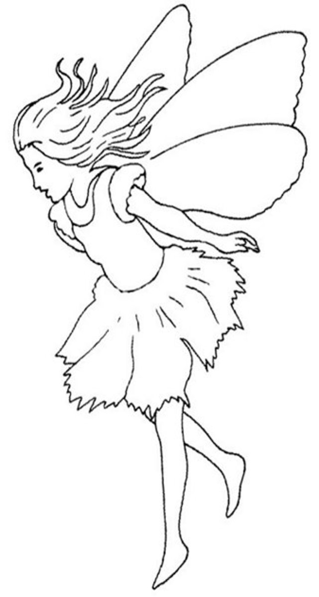 Fairy and Fairies Free-Kids Coloring Pages with Colouring Pictures to Print