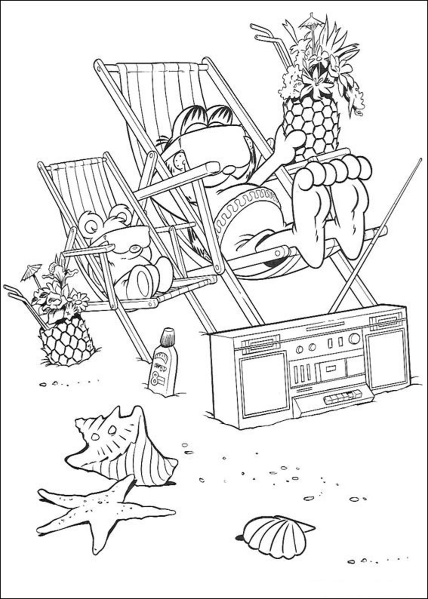 Garfield Kids Coloring Pages with Free Colouring Pictures to Print
