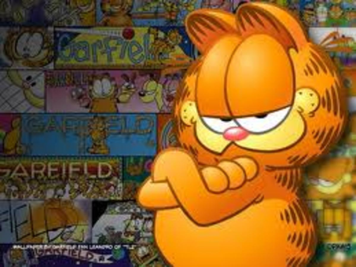Garfield Coloring Pages Color Example