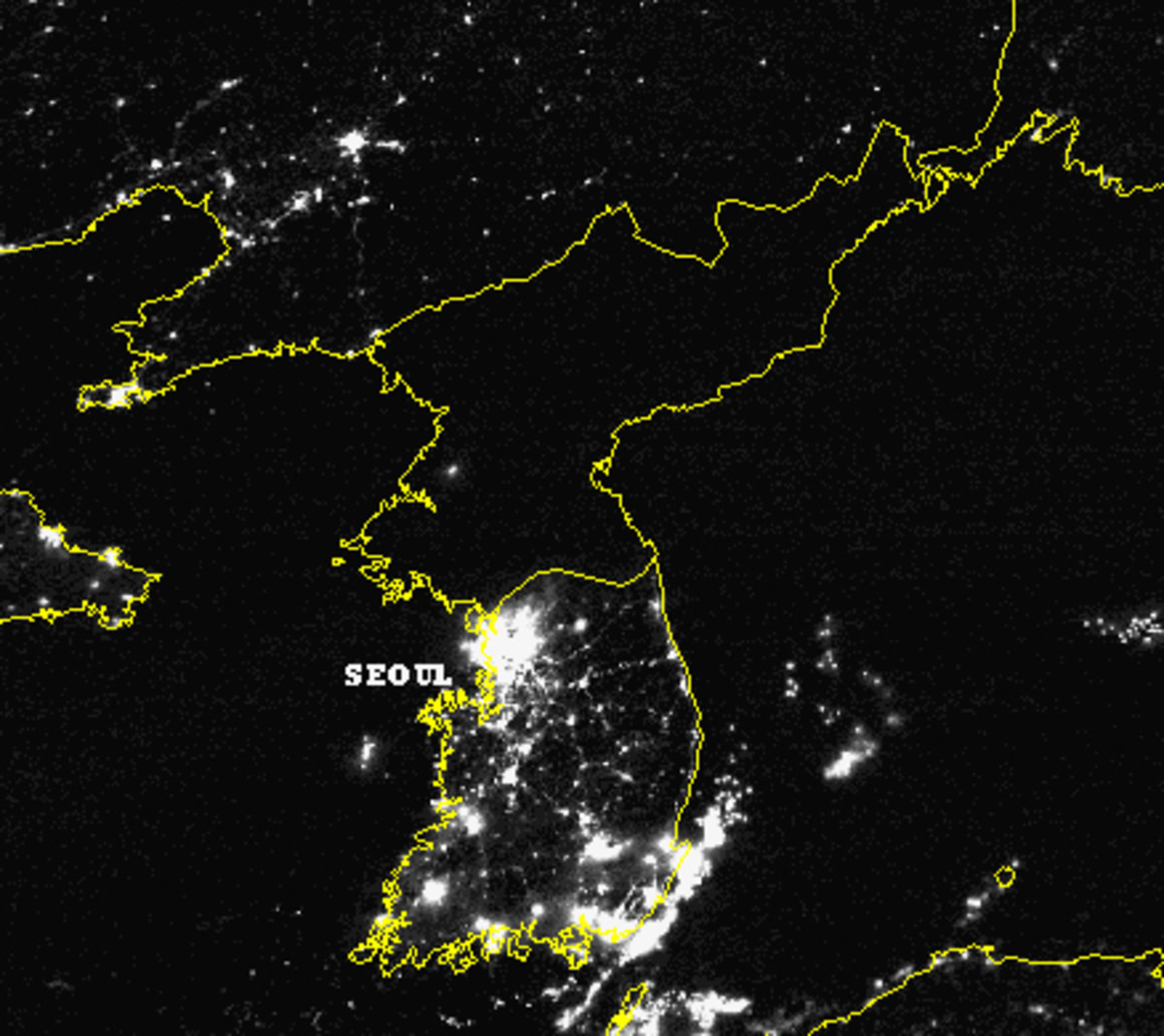 THE SOCIALISTS IN NORTH KOREA ALL USE THE SAME AMOUNT OF ELECTRICITY BUT THOSE IN CAPITALISTS SOUTH KOREA DISTRIBUTE ELECTRICITY UNEQUALLY