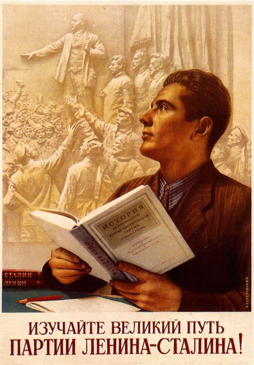 A GOOD SOCIALIST WILL LEARN FROM LENIN AND STALIN HOW TO THINK