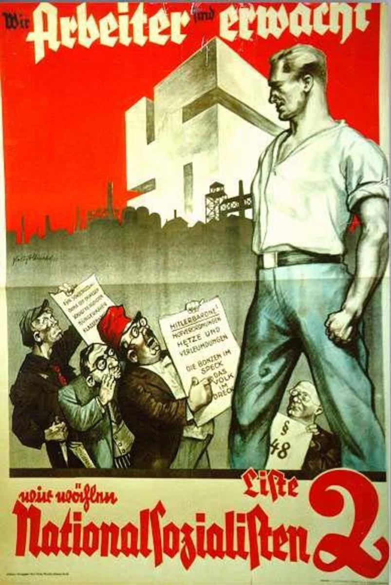 SOCIALIST POSTER IN GERMANY SAYS THAT THE WORKERS HAVE AWOKEN