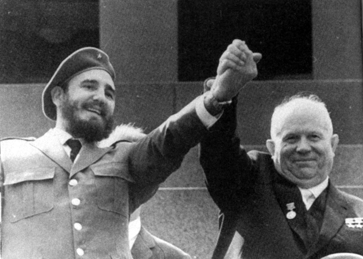 TWO FINE SOCIALISTS CASTRO AND KHRUSHCHEV