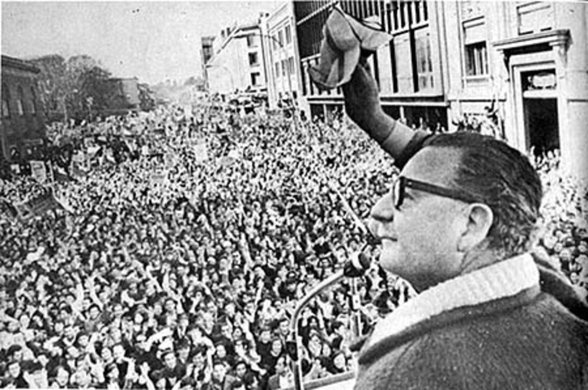 ALLENDE THE SOCIALIST PROMISED HOPE AND CHANGE AND FREE HEALTH CARE FOR ALL IN CHILE MAKING HIM A MESSIAH FIGURE